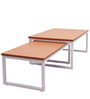 Center Table nested pair in Sapeli Brown & White Colour by Casamia