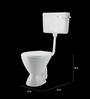 Cera Camelia White Ceramic Water Closet