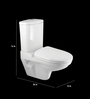 Cera Caroline White Ceramic Water Closet