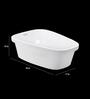 Cera Celso White Ceramic Wash Basin