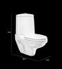 Cera Cruse White Ceramic Water Closet ( Model No: 2038 )