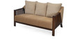 Chevy Three Seater Sofa in Brown Colour by @ Home