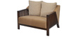 Chevy Two Seater Sofa in Brown Colour by @ Home