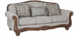 Chrysler Fabric Three Seater Sofa in Beige Colour by HomeTown