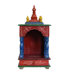 Chandra Shekhar Exports Multicolour MDF & Mango Wood Hand Painted Jodhpuri Temple - 1552661