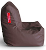 Chair Bean Bag L size in Chocolate Brown Colour with Beans by Style Homez