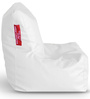 Chair Bean Bag L size in White Colour with Beans by Style Homez