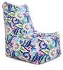 Chair Cotton Canvas Floral Design Bean Bag XXL Size Cover Only by Style Homez