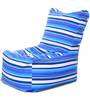 Chair Cotton Canvas Striped Bean Bag XXL Size with Beans by Style Homez