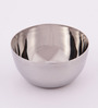 Chakmak Silver Stainless Steel 210ML Belly Bowl - Set of 12