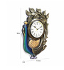 Chandraki Peacock Wall Clock in Multicolor by Mudramark