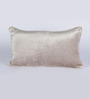 Chandrika Brown Velvet 12 x 20 Inch Cushion Cover