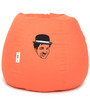 Charlie Chaplin Embroided Bean Bag Filled with Beans in Orange Colour by Can