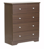 Chest Of Four Drawers in Dark Brown Finish by Heveapac
