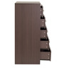 Nanashin Chest of Five Drawers in Chocolate Beech Finish by Mintwud