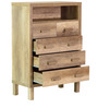 Haruna Chest of Five Drawers in Natural Finish by Mintwud
