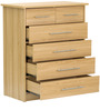 Hanako Chest of Six Drawers in Oak Finish by Mintwud