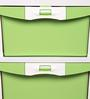 Chester Storage Drawer Series in Cream & Pastel Green Colour by Nilkamal
