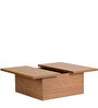 Chikaga Coffee Table with Storage in Walnut Finish by Mintwud