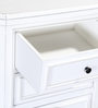 Chilton Bed Side Table in White Finish by Amberville