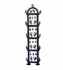 Chinhhari Arts Black Wrought Iron Dual Candle Stand
