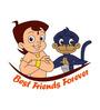 Chipakk Chhota Bheem and Jaggu Friends Door Decal