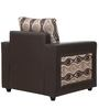 Chocolate One Seater Sofa in Brown Print by Sofab