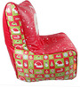 Christmas Theme Filled Bean Chair in Multicolour by Orka