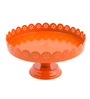 Chumbak  Orange Cast Iron Cake Stand
