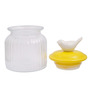 Chumbak Bird Cookie Yellow Round 450 ML Jar