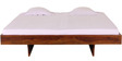 Omaha King Size Bed in Provincial Teak Finish by Woodsworth