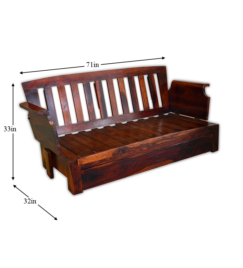 Sofa bed wood wood sofa bed crowdbuild for thesofa for Wooden sofa come bed design