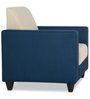 Ciaz Fabric One Seater Sofa in Blue & Beige Colour by HomeTown