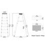 Cipla Plast Aluminium 6-step 9.16 FT Ladder