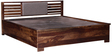 Clancy Queen Bed with Hydraulic Storage in Provincial Teak Finish by Woodsworth