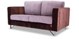 Clinton Two Seater Sofa in Grey & Brown Colour by Durian