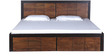Forks King Bed in Dual Tone Finish by Woodsworth