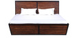 Illinois Queen Size Bed In Dual Tone Finish By Woodsworth