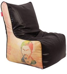 Chak De Theme Filled Bean Bag Chair In Multi Colour By Orka