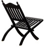 Keble Folding Chair in Espresso Walnut Finish by Amberville