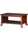 Amarillo Coffee & Centre Table in Honey Oak Finish by Woodsworth