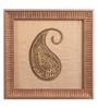 Clasicraft Brown Beads on Raw Silk 8.8 x 0.8 x 8.8 Inch Modern Paisley Framed Wall Art