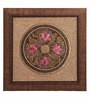 Clasicraft Multicolour Beads on Canvas Board 12 x 0.5 x 12 Inch Circle Framed Wall Art