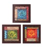 Clasicraft Multicolour Canvas 15 x 0.8 x 15 Inch Abstract Framed Wall Art Painting - Set of 3