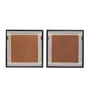 Clasicraft Multicolour Canvas 34 x 0.8 x 17 Inch Abstract Framed Wall Art Painting - Set of 2