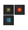 ClasiCraft Multicolour Canvas Abstract Wall Art - Set of 3