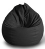Classic Bean Bag (Cover Only) XXL size in Black Colour  by Style Homez