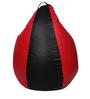 Classic Bean Bag Cover without Beans in Black and Red Colour by Sattva