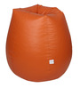 Classic Bean Bag Cover without Beans in Orange Colour by Sattva