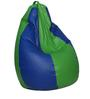 Classic Bean Bag Cover without Beans in Royal Blue And Neon Green Color by Sattva